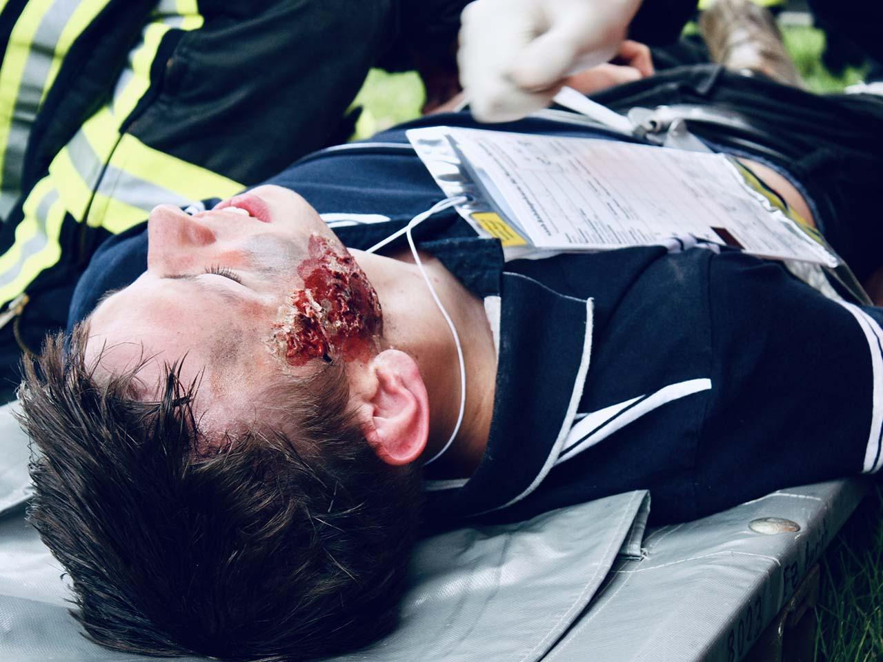 verletzte Person